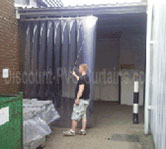 sliding pvc strip curtain animation