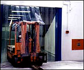 Ribbed fork lift truck pvc curtain